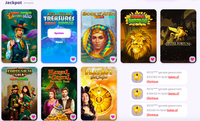 Jackpot Slots bei 7Signs