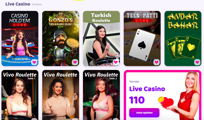 Live Casino bei 7Signs
