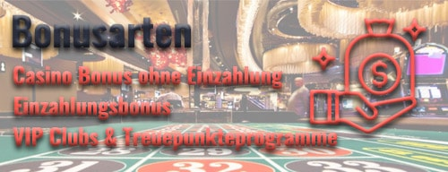 Casino Bonusarten, bonus symbol, roulette tafel