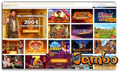 Das Spieleangebot im Jambo Casino