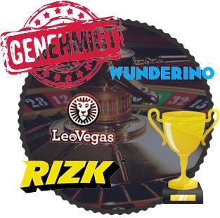 casino logos, genehmigter Stempel, Trophäe