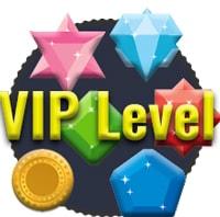 EUslot VIP level, gold, Smaragd, Saphir, Opal, Rubin und diamant