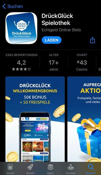 Download der DrückGlück App im App Store