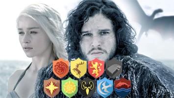 Daenerys Targaryen, Jon Schnee und Game of Thrones familien Siegel