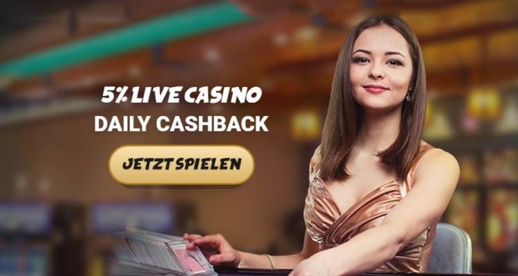 Live Casino Cashback Bonus von Svenbet