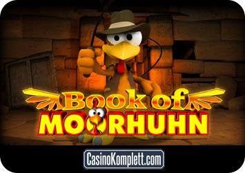 Book of Moorhuhn online casino spielen