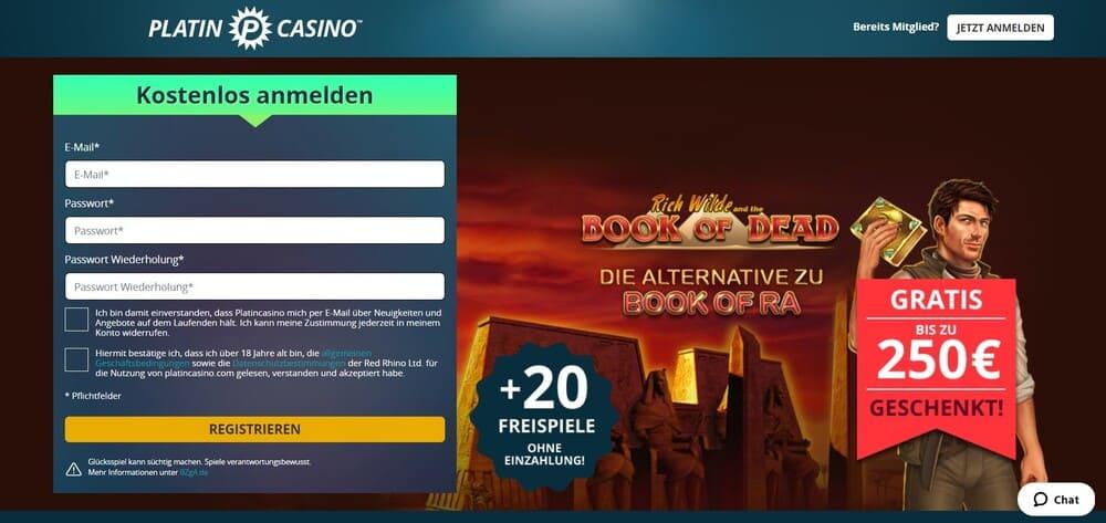 Platincasino Homepage