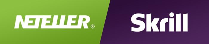 Logo von Skrill und NETELLER