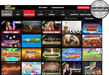 Slotsmiller spielautomaten und casinokomplett.com logo