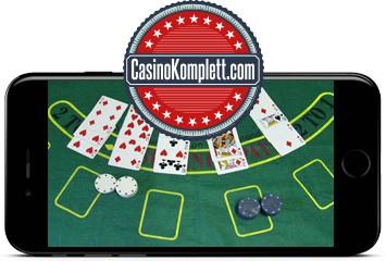 Smartphone balckjack, casinokomplett.com logo