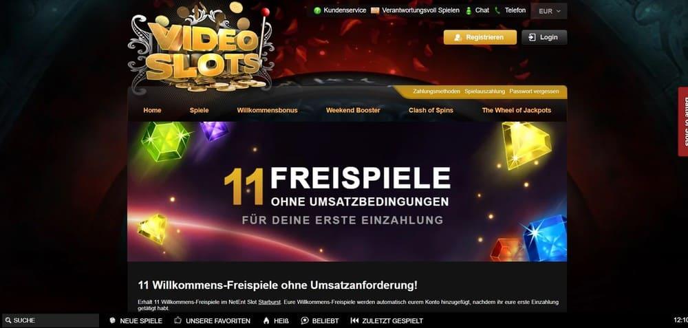 Video Slots Homepage
