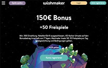 Wishmaker Mobile Website Design