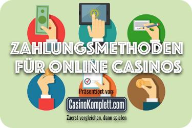 Zahlungsmethoden für Online Casinos