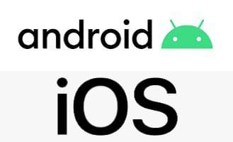 Logo von Android und iOS