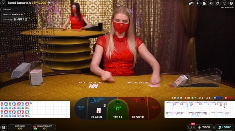 Baccarat im Boom Casino