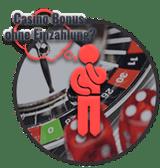 Mann denkt an casino bonus ohne einzahlung