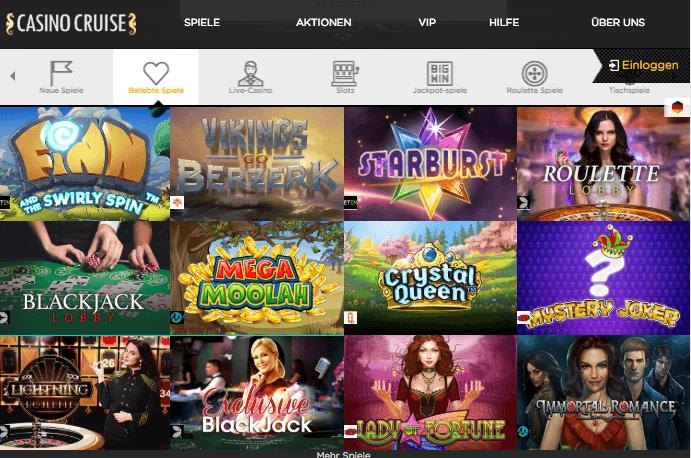 casino cruise das design und die software