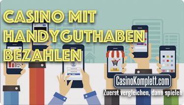 Online Casino mit Handyguthaben bezahlen