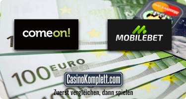 comeon, mobilebet und casinokomplett