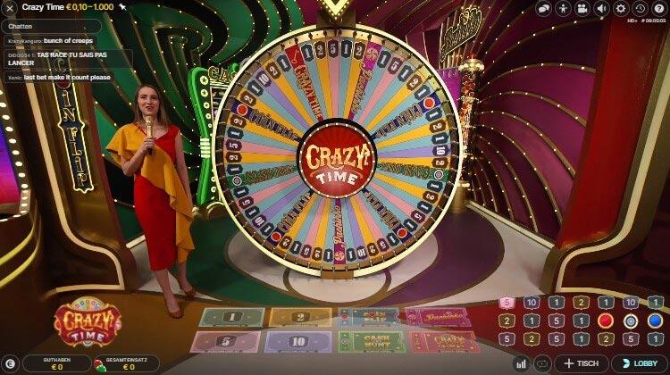 Crazy Time im Boom Casino