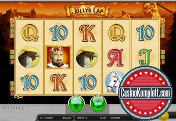 edict jollys cap spielautomaten Druckbildschirm mit casinokomplett logo
