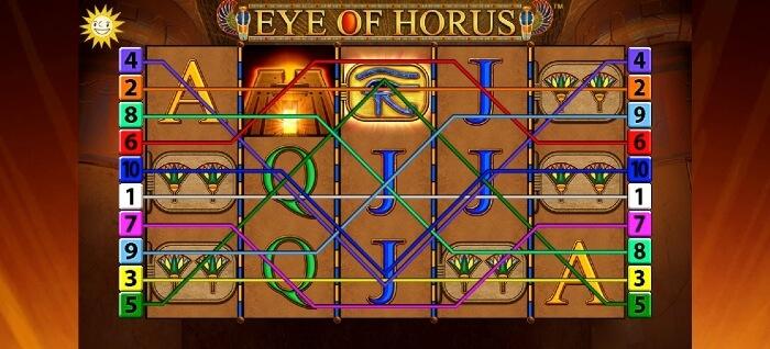 Eye of Horus beim Platin Casino