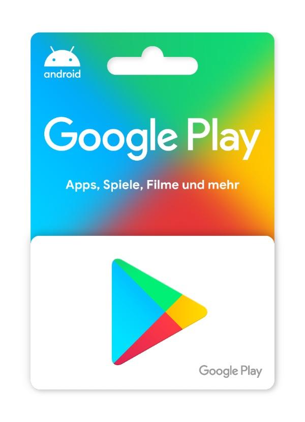 Eine Guthabenkarte von Google Play