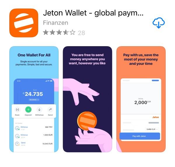 Die Jeton App im App Store