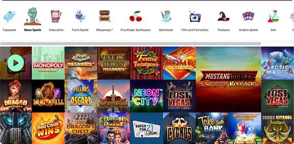neue spiele auf boo casino