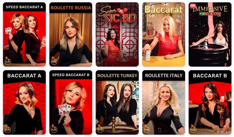 Live Casino von Nomini