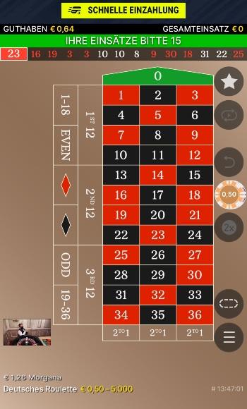 Ein Live Roulette Spiel bei Rabona