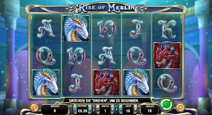 Rise of Merlin bei Videoslots