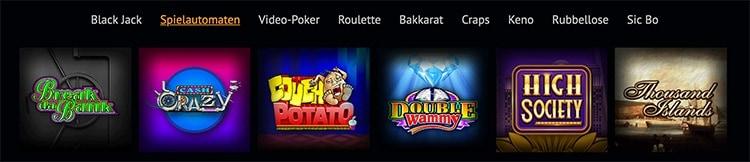 Spin Palace Casino Spielautomaten