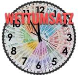 Wettumsatz, eine Uhr aus EUROS