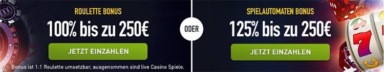 Wilkommensbonus im Casino Club