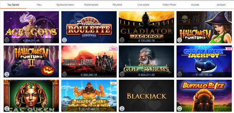 Winner Casino Top Spiele