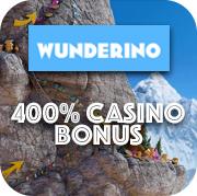 wunderino 400% casino bonus